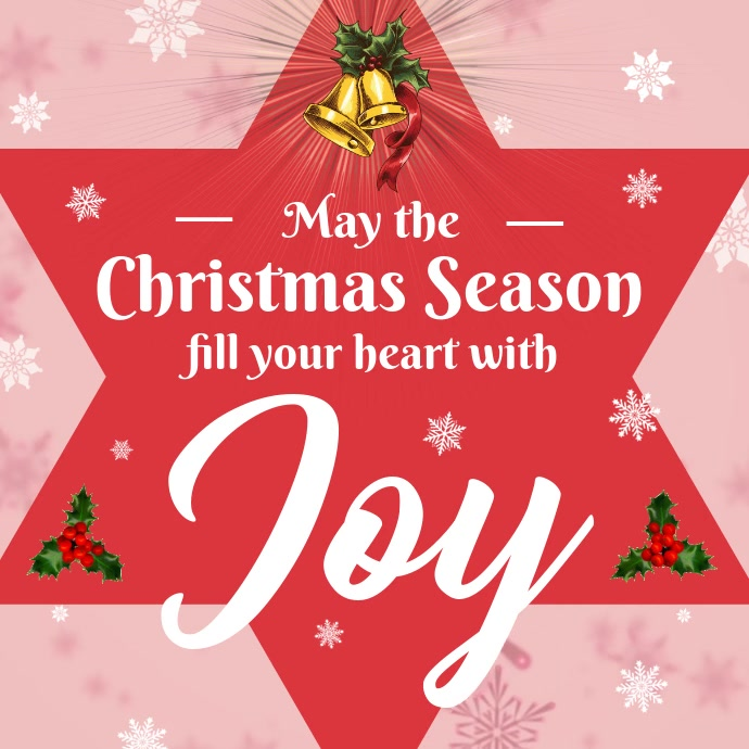 Christmas Greeting Card Video Instagram Cuadrado (1:1) template