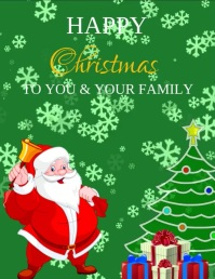 CHRISTMAS GREETING CARD video tempalte Flyer (US Letter) template