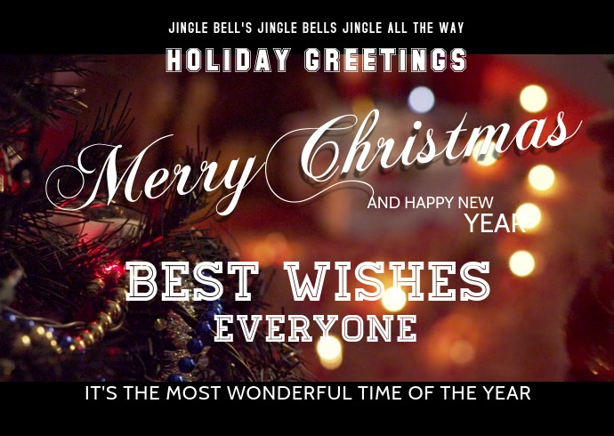 Christmas greeting cards Video Template Postcard