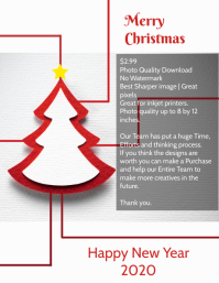 Christmas greeting cards poster template