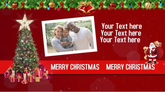Christmas Greeting Pantalla Digital (16:9) template