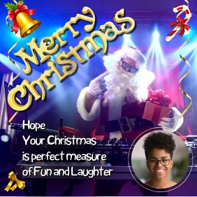 Customizable design templates for merry christmas video greetings christmas greeting instagram m4hsunfo