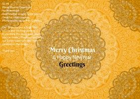 Christmas greeting poster flyer
