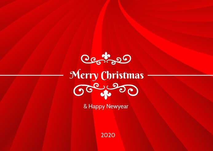Christmas greeting poster flyer template