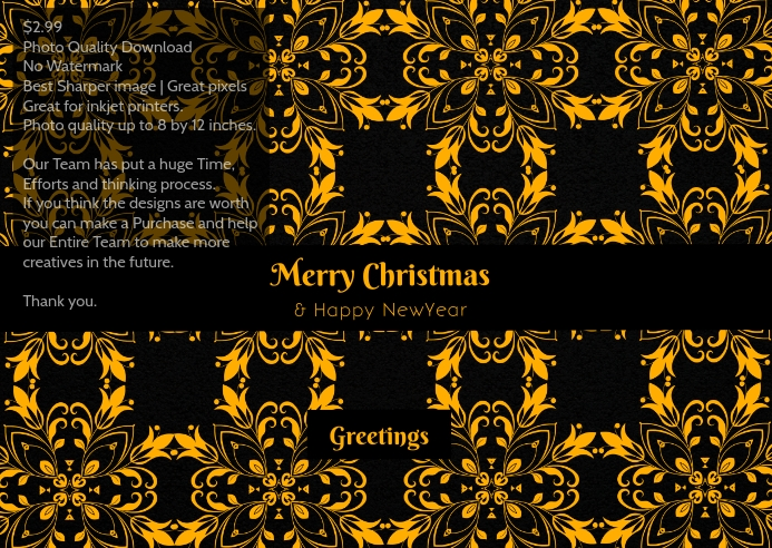 Christmas greeting poster template