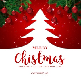 Christmas Greeting Template Instagram na Post