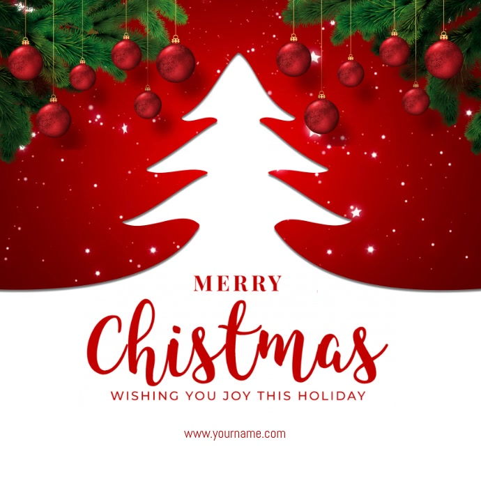 Christmas Greeting Template Instagram-bericht