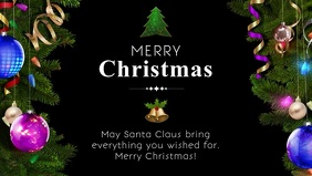 Christmas Greeting Video Card Wish Message Ad