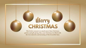 Christmas Greeting Video Gold Shine Wishes