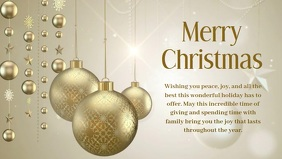 Christmas Greeting Video Message Wish Gold ad