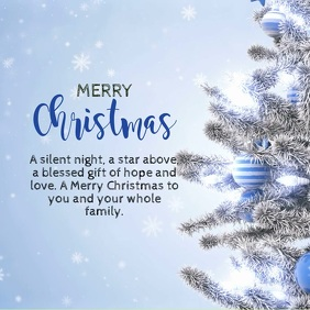 Christmas Greeting Video White Tree snow ad