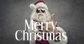 Christmas Greeting Wishes Card Cool Santa ad