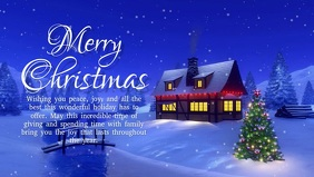 Christmas Greeting Wishes Video Snow Night Ad