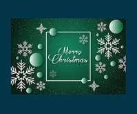 Christmas Greetings Persegi Panjang Sedang template