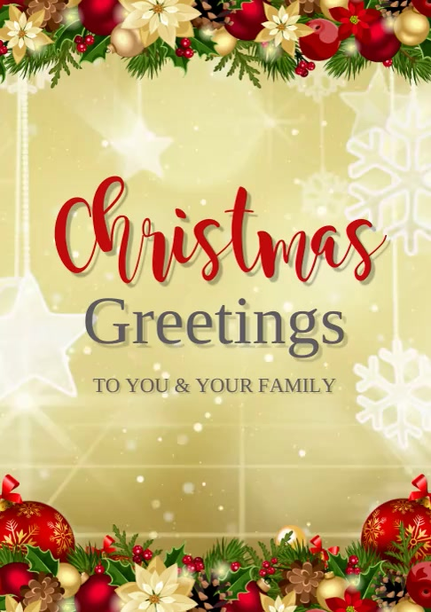 christmas greetings A3 template