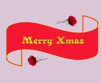Christmas Greetings Medium Rectangle template