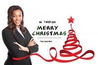 Christmas Greetings Banner 4' × 6' template