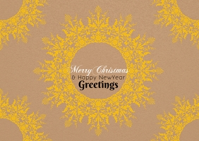 Christmas greetings poster template Открытка