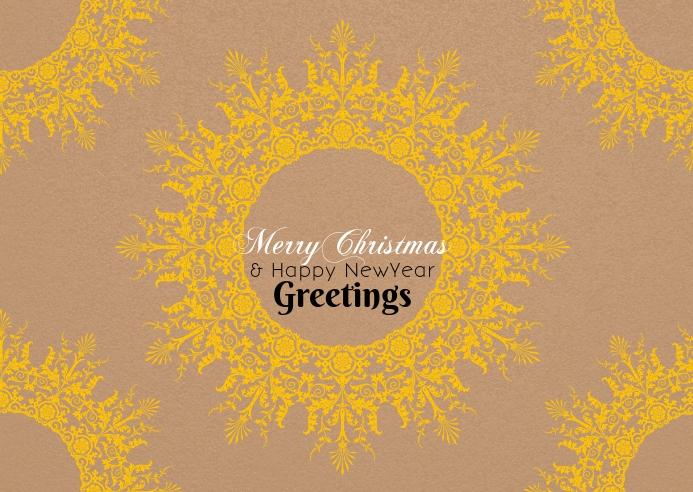 Christmas greetings poster template 明信片