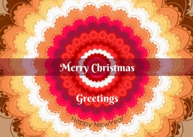Christmas greetings poster template Postcard