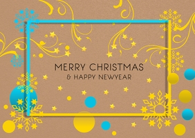 Christmas greetings poster template