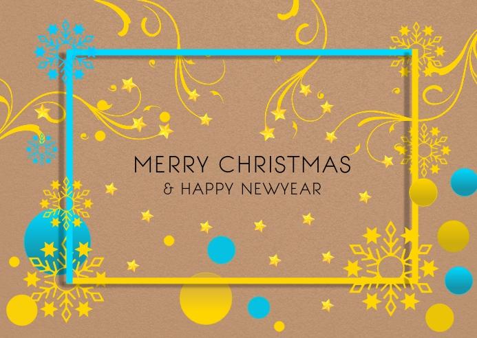 Christmas greetings poster template