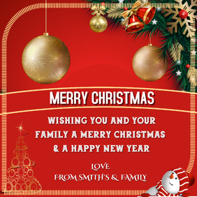 Christmas greetings to family & friends