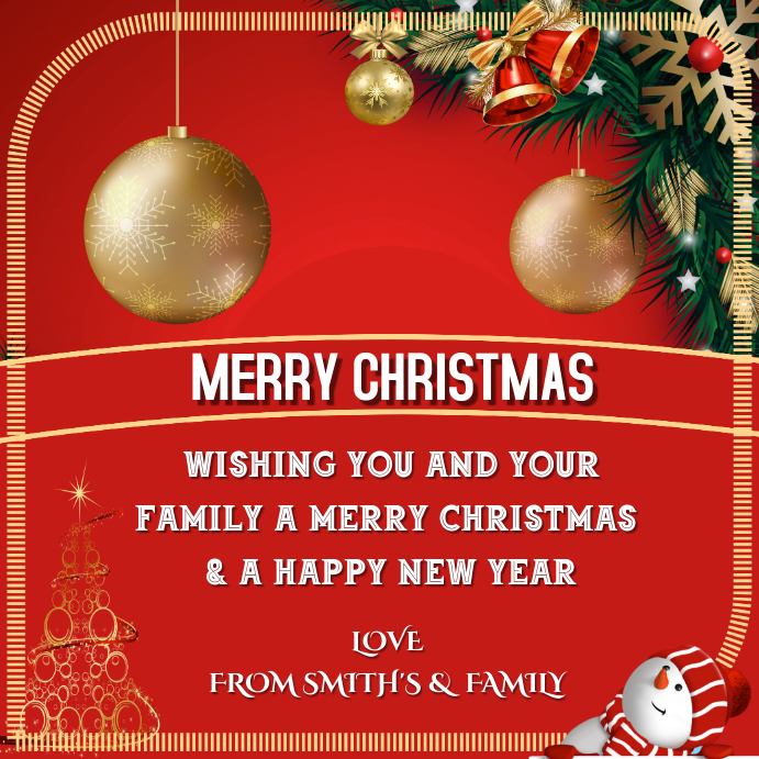 Christmas Greetings To Family Friends