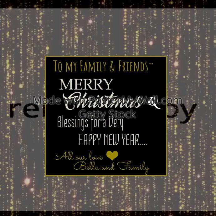 Christmas greetings video template postermywall christmas greetings video m4hsunfo