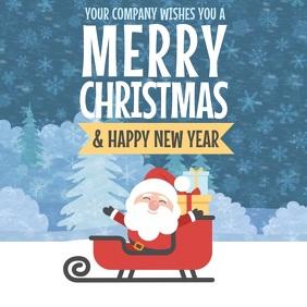 Christmas greetings Video template