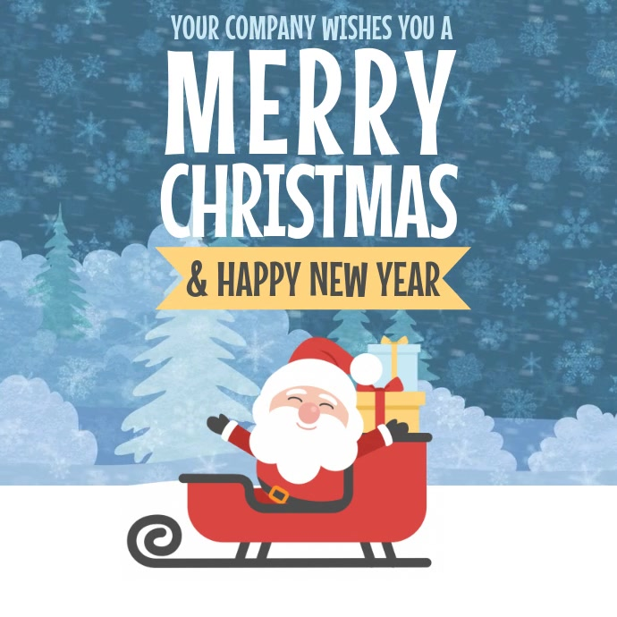 Christmas Greetings Video Template  Christmas Poster Template