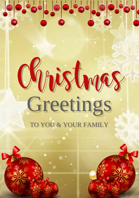 christmas greetings video template A3