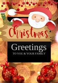 christmas greetings video template