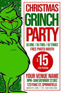 Christmas Grinch Party Poster