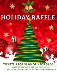 Christmas Holiday Basket Raffle Volante (Carta US) template