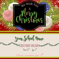 Christmas Holiday Instagram Post template