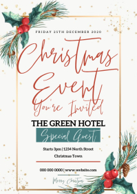 CHRISTMAS HOLIDAY event flyer template A4