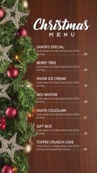 Christmas Holiday menu Tampilan Digital (9:16) template