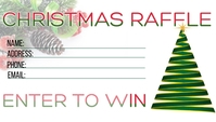 Christmas Holiday Raffle Visitenkarte template