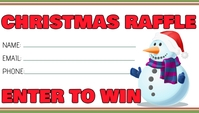 Christmas Holiday Raffle Business Card template