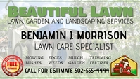 Lawn Care Services Business Card Kartu Bisnis template
