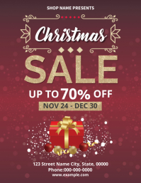 Christmas / Holiday Sale Flyer template