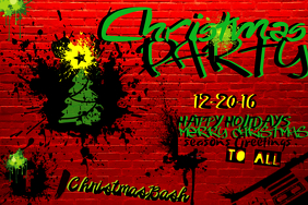 Christmas Holiday Season Graffiti Tree Paint X-Mas Star