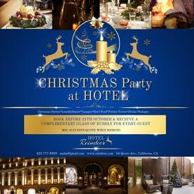 Christmas hotel blue
