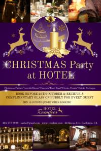 Christmas hotel purple