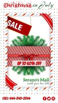 Christmas in July, Sale Display digitale (9:16) template