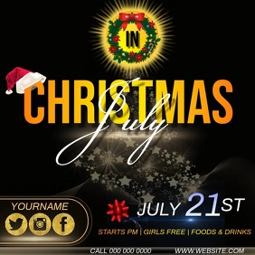 CHRISTMAS IN JULY AD TEMPLATE Instagram Post