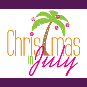 CHRISTMAS IN JULY Instagram-bericht template