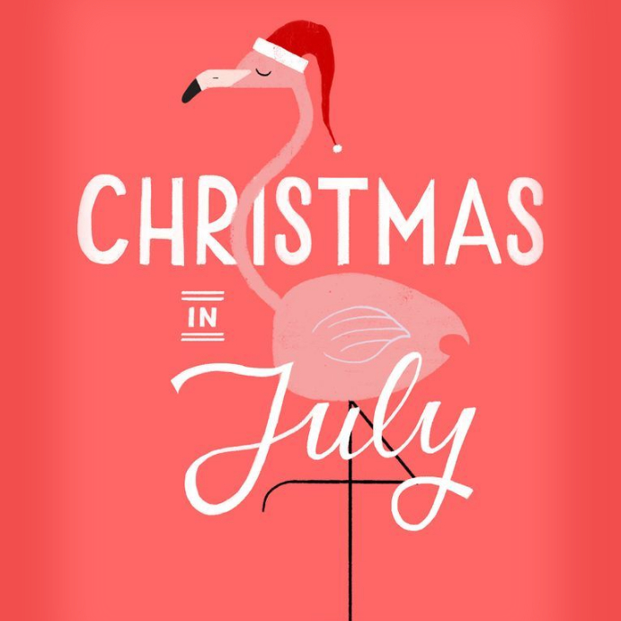 CHRISTMAS IN JULY Instagram Post template