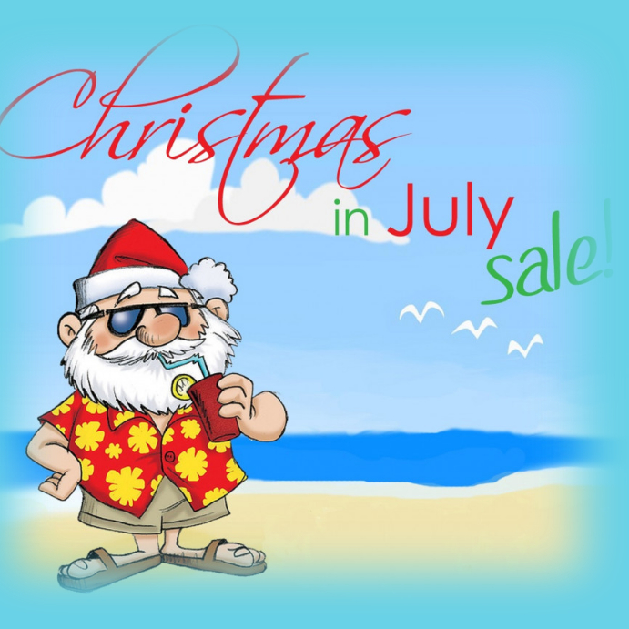 Christmas In July Sale Images.Christmas In July Template Postermywall